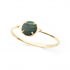 Filigree Disc Bangle - Malachite