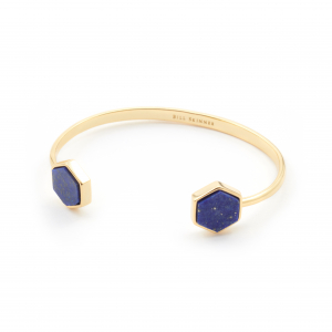 Mini Filigree Hexagon Bangle - Lapis