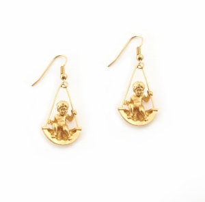 Mini Cherub Swing Earrings (gold)