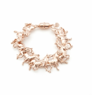 Galloping Horse Bracelet - Rose Gold