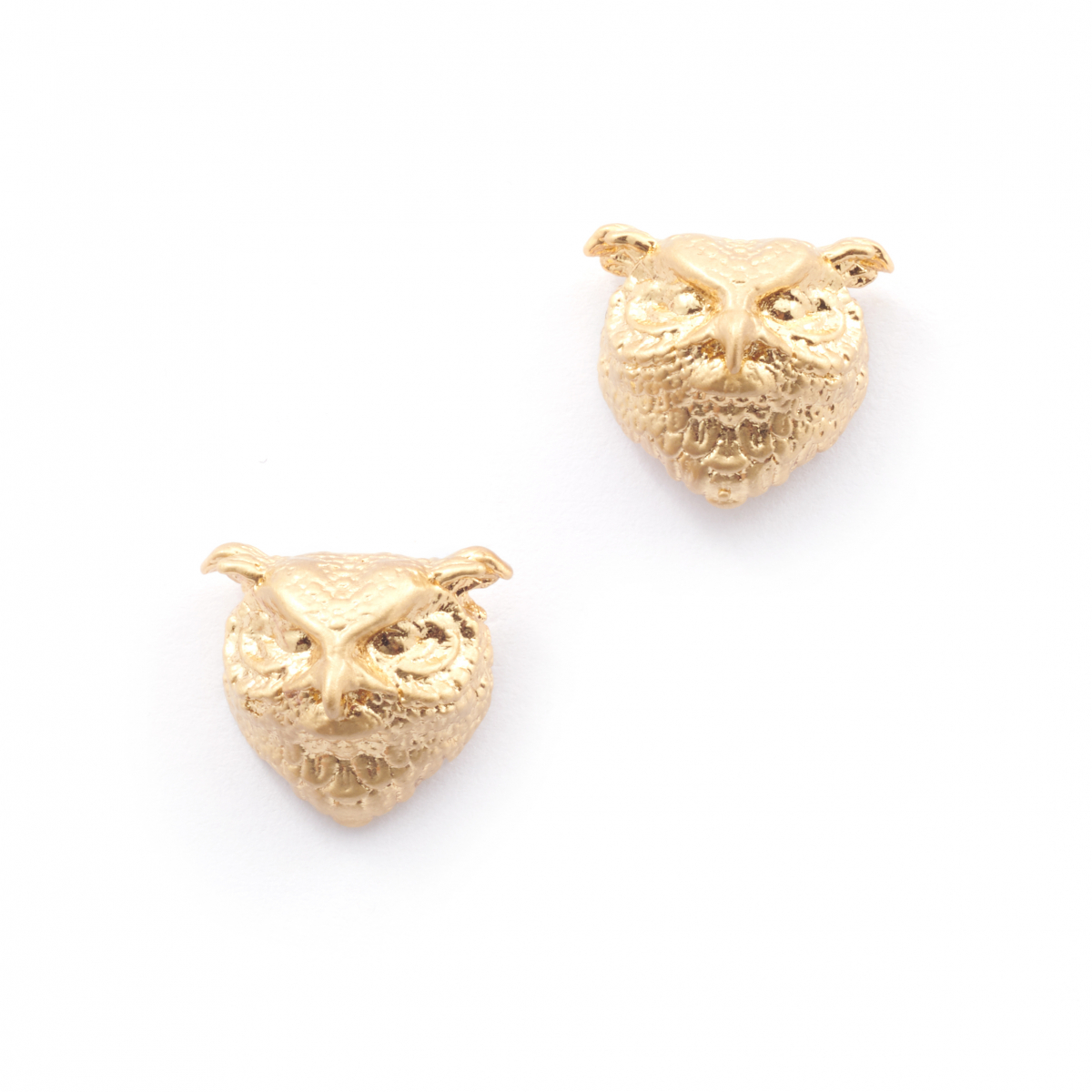 Owl Stud Earrings - Gold