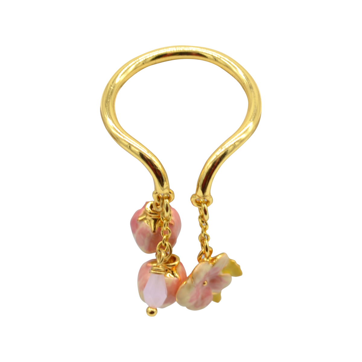 Hanging Cherry Blossom Open Ring