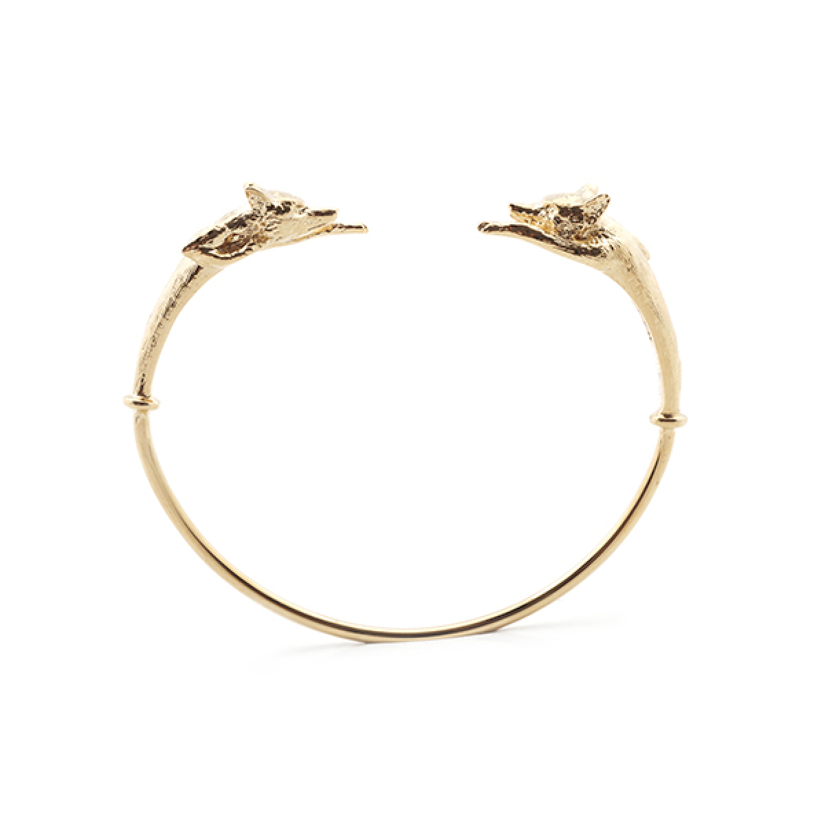 Stealthy Fox Bangle - Gold