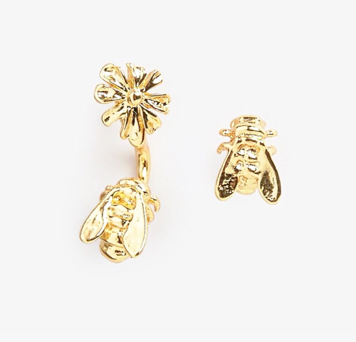 Floral & Bee Through & Through Earrings