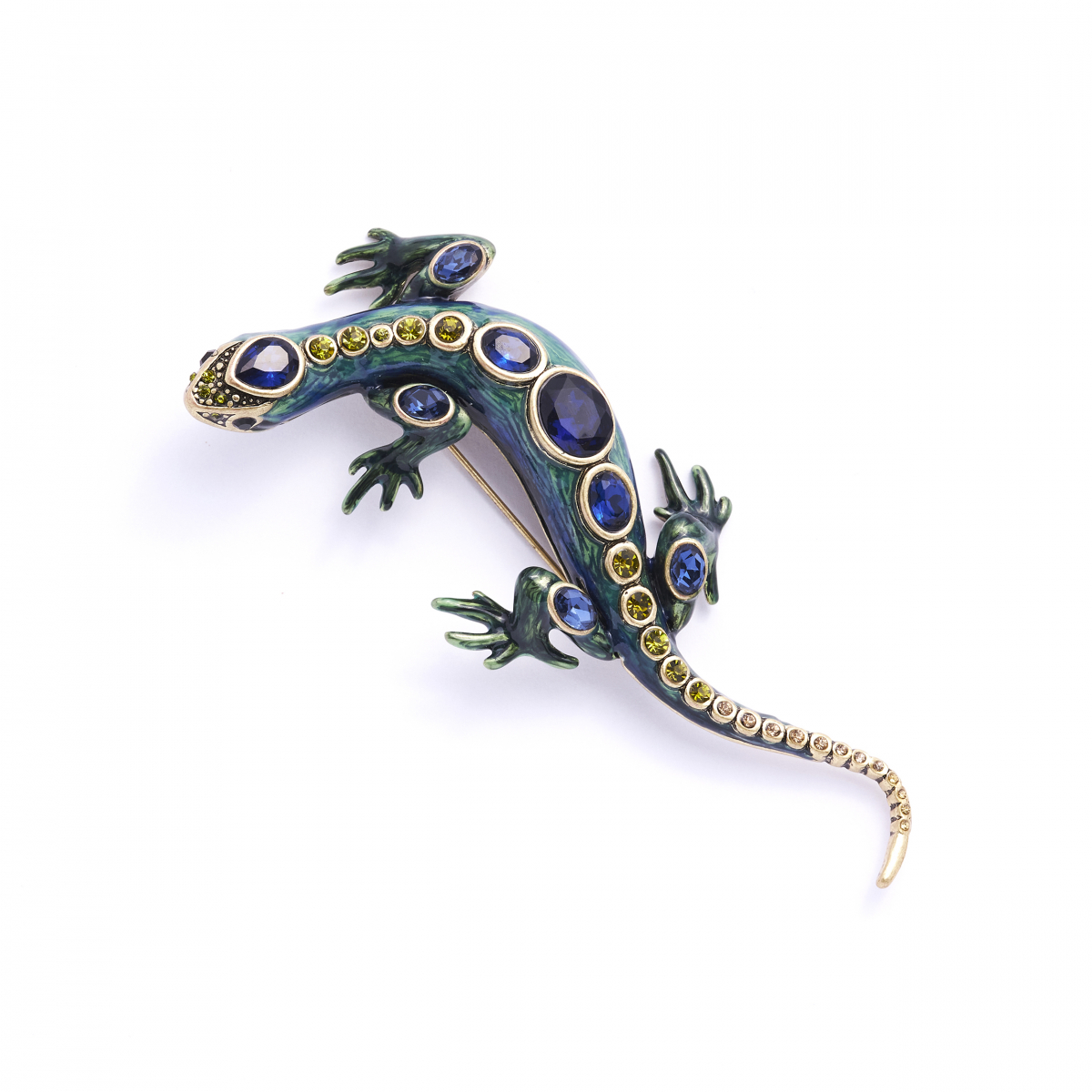 Bejewelled Lizard Brooch