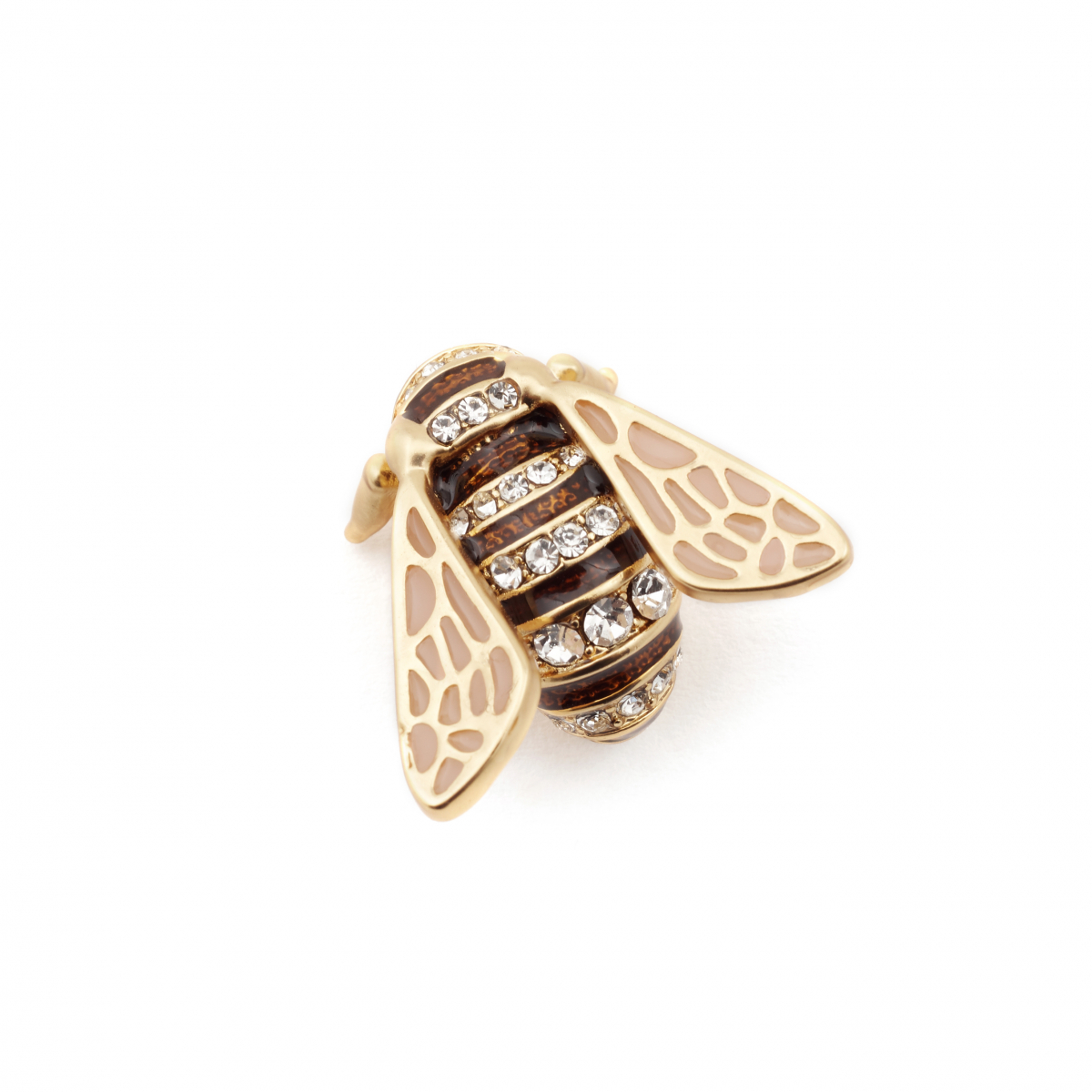 Adorned Queen Bee Pin Brooch
