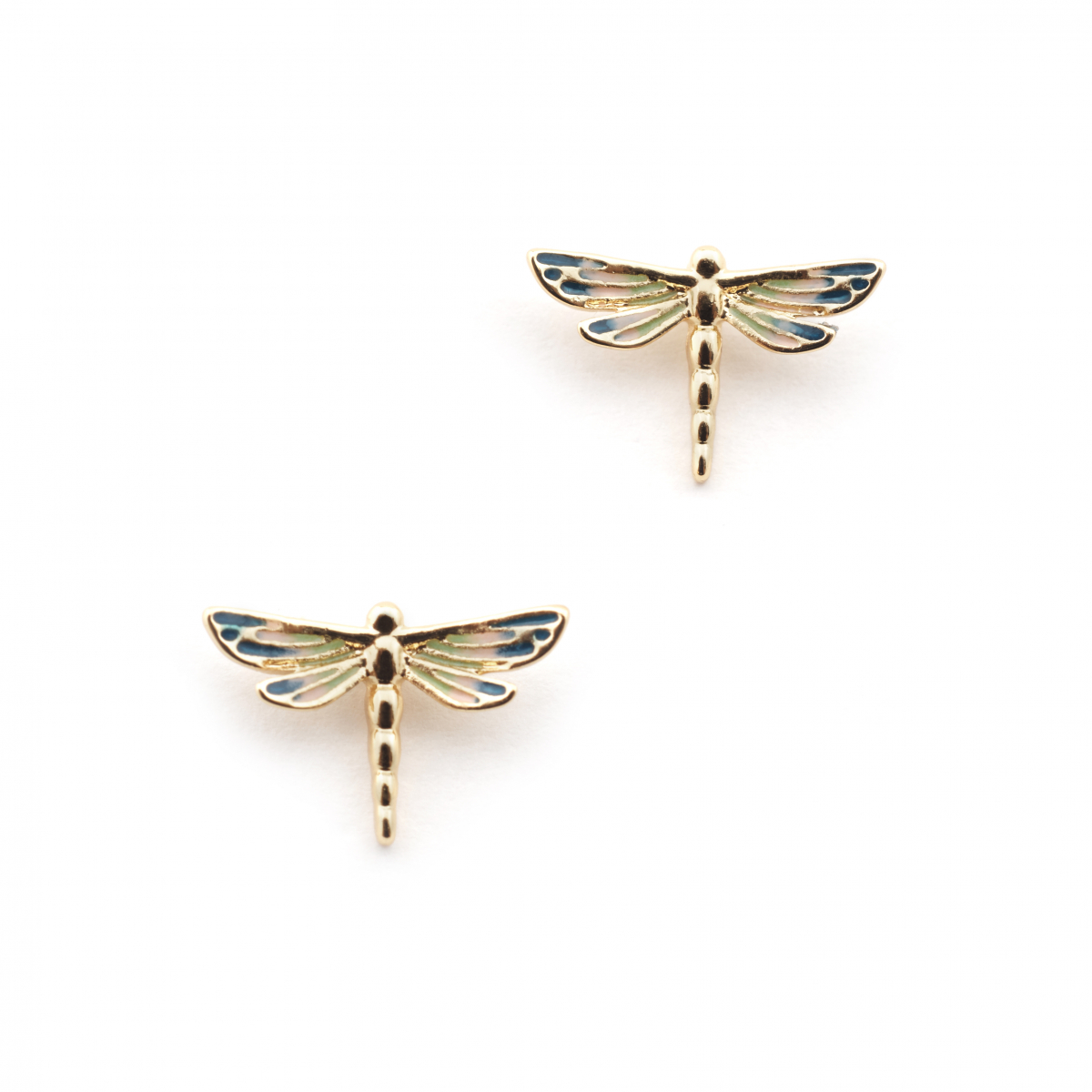 Dragonfly Stud Earring - Gold