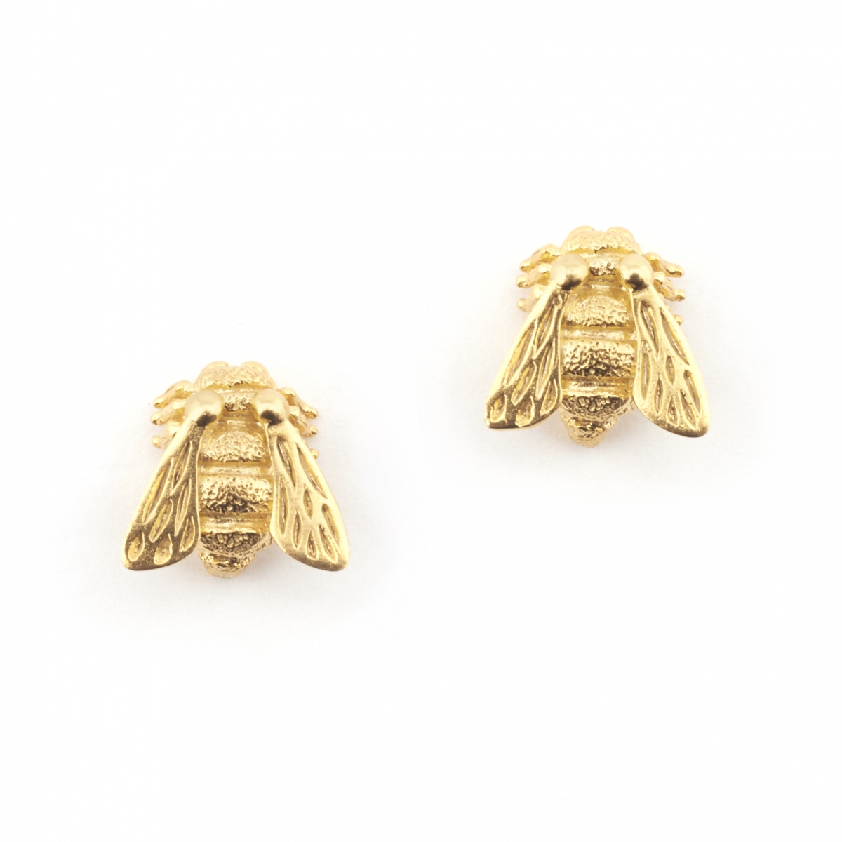Baby Bee Stud Earrings Gold