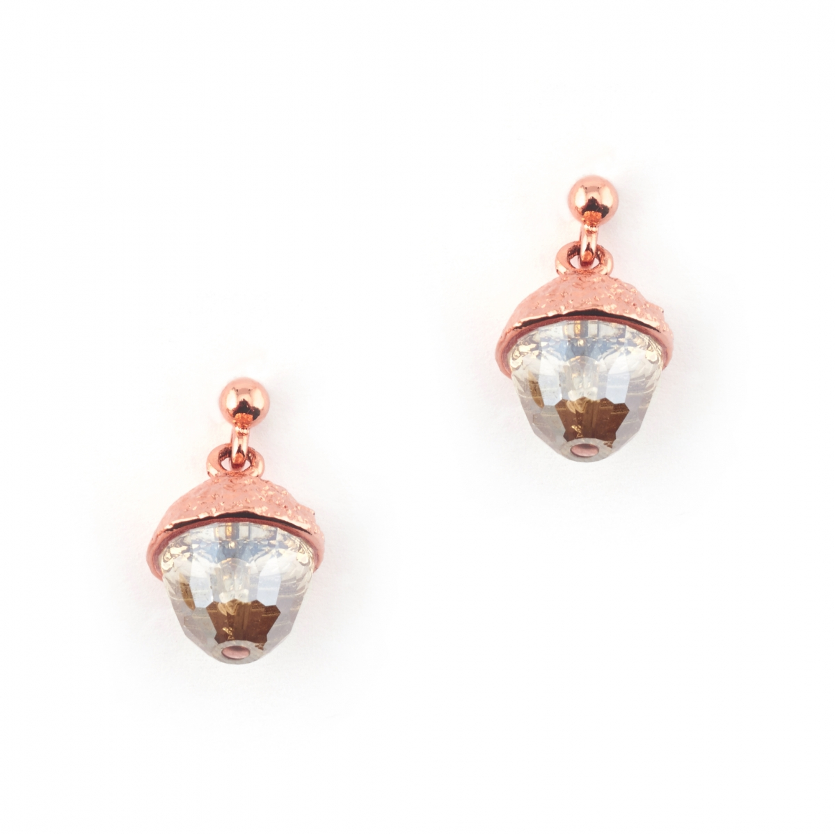 ROSE GOLD ACORN EARRINGS