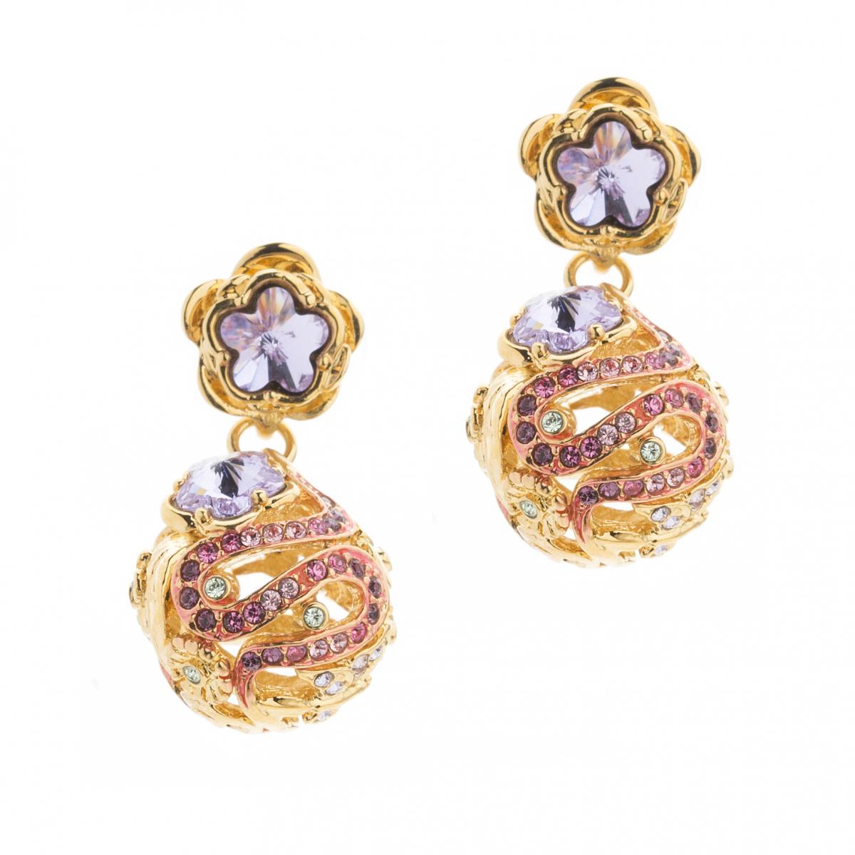 7a38dd0c0 Mini Botanical Orb Earring - Gold   Fashion Jewellery