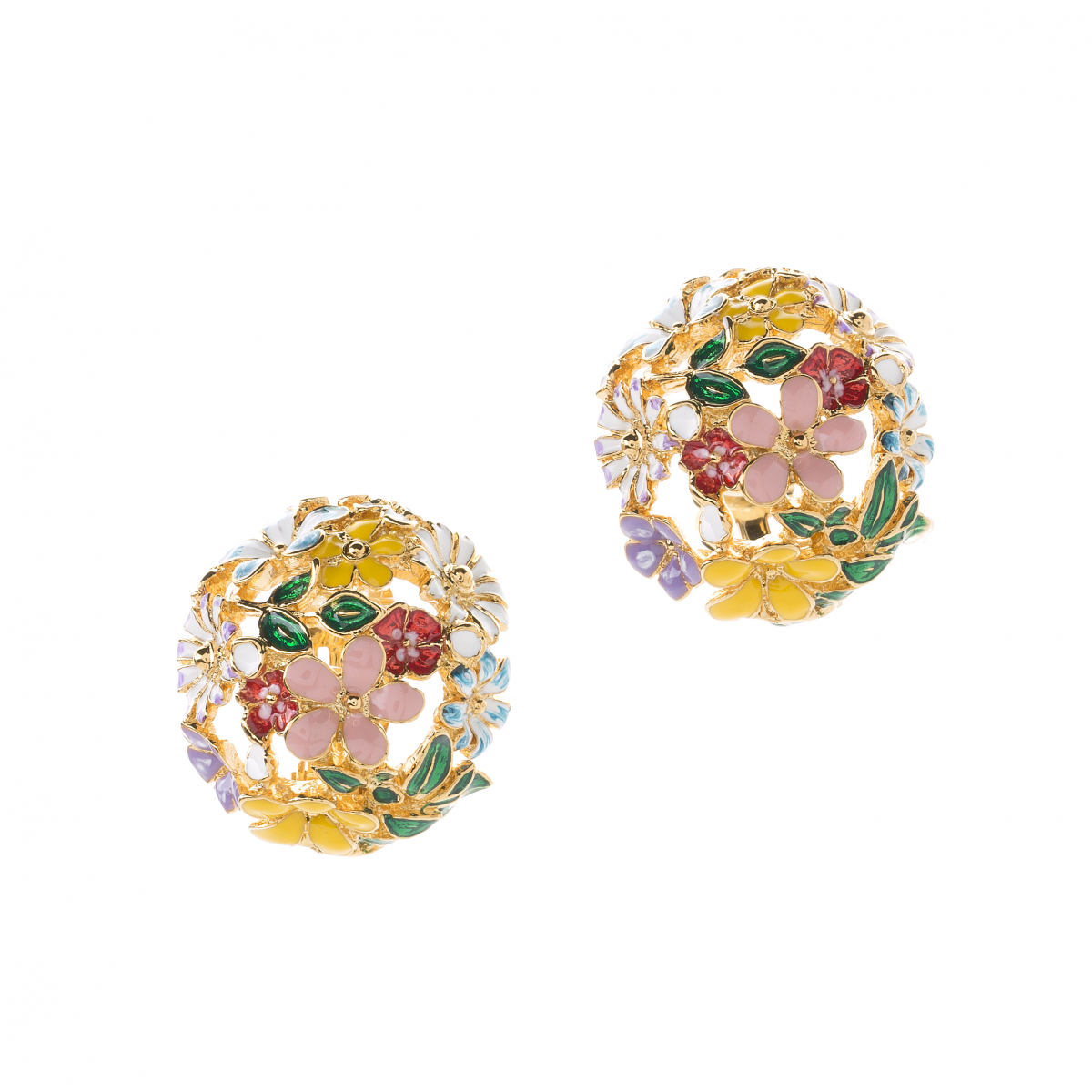 Statement Floral Orb Clip Earring