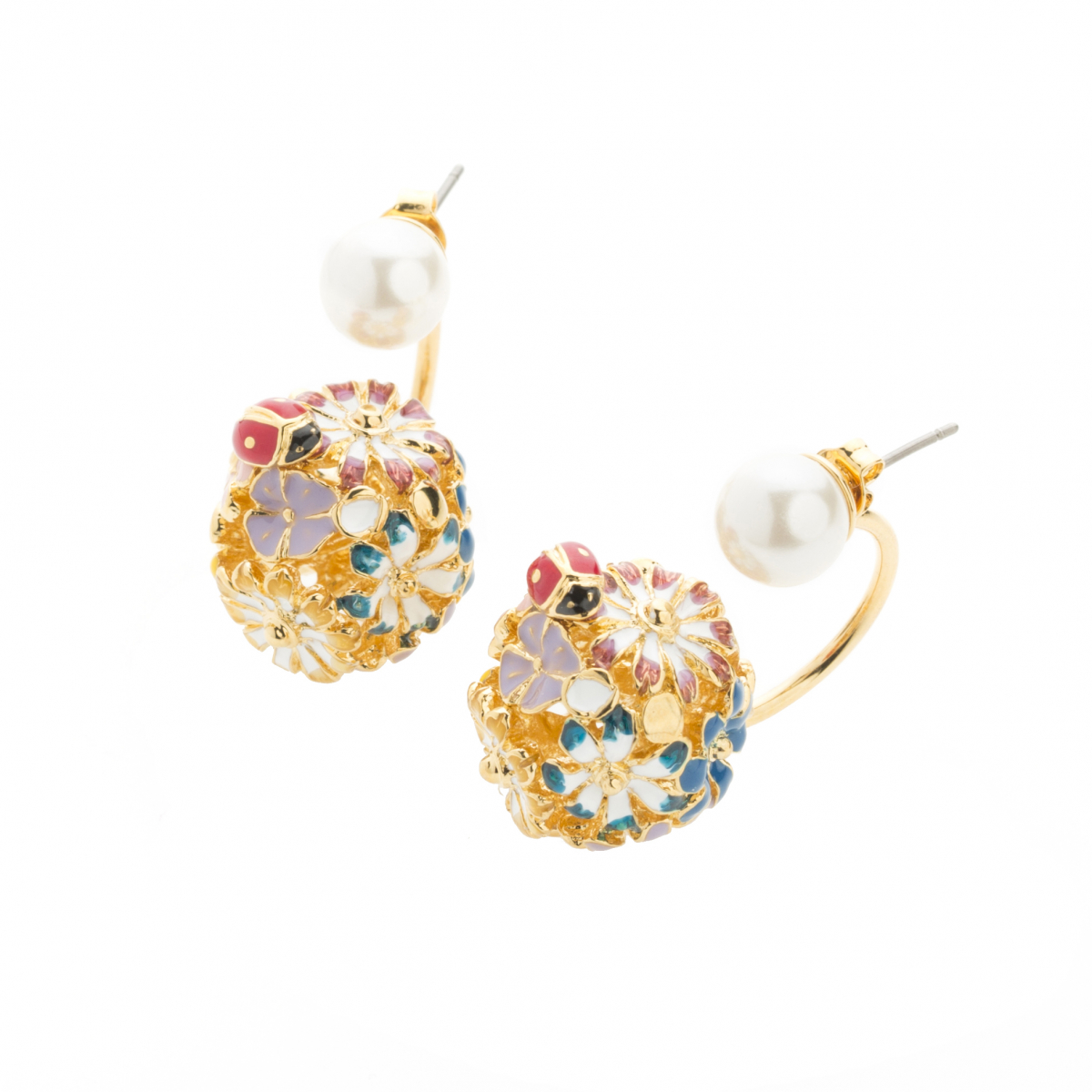 Floral Orb Through & Through Earring