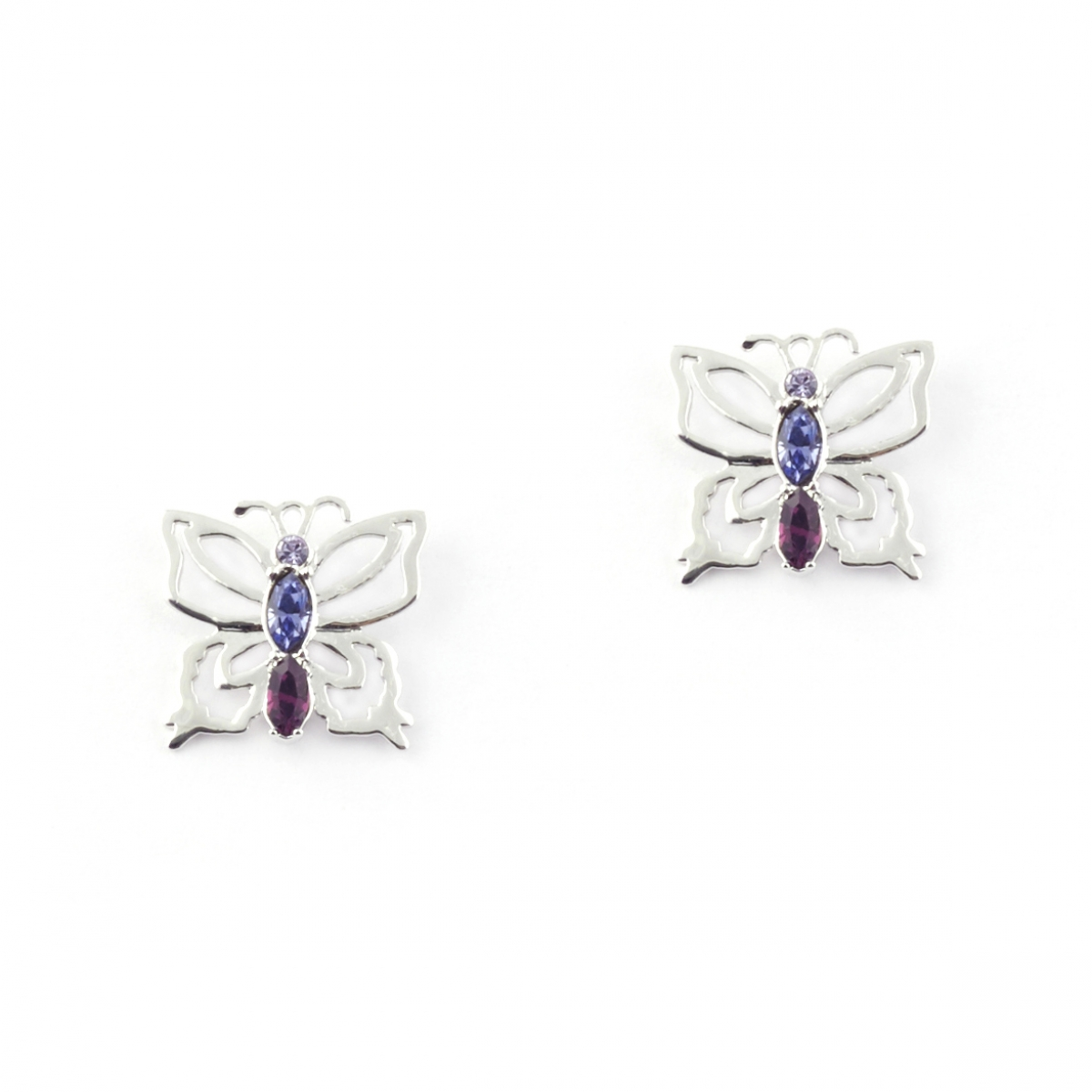 Botanical Butterfly Earrings