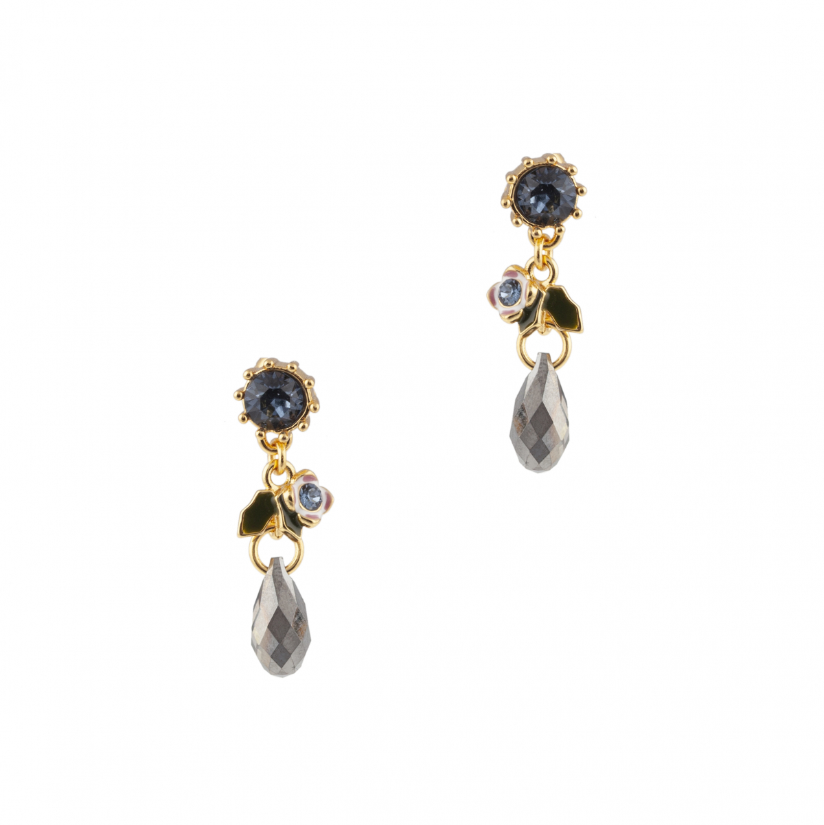 Crystal Woodland Floral Earring