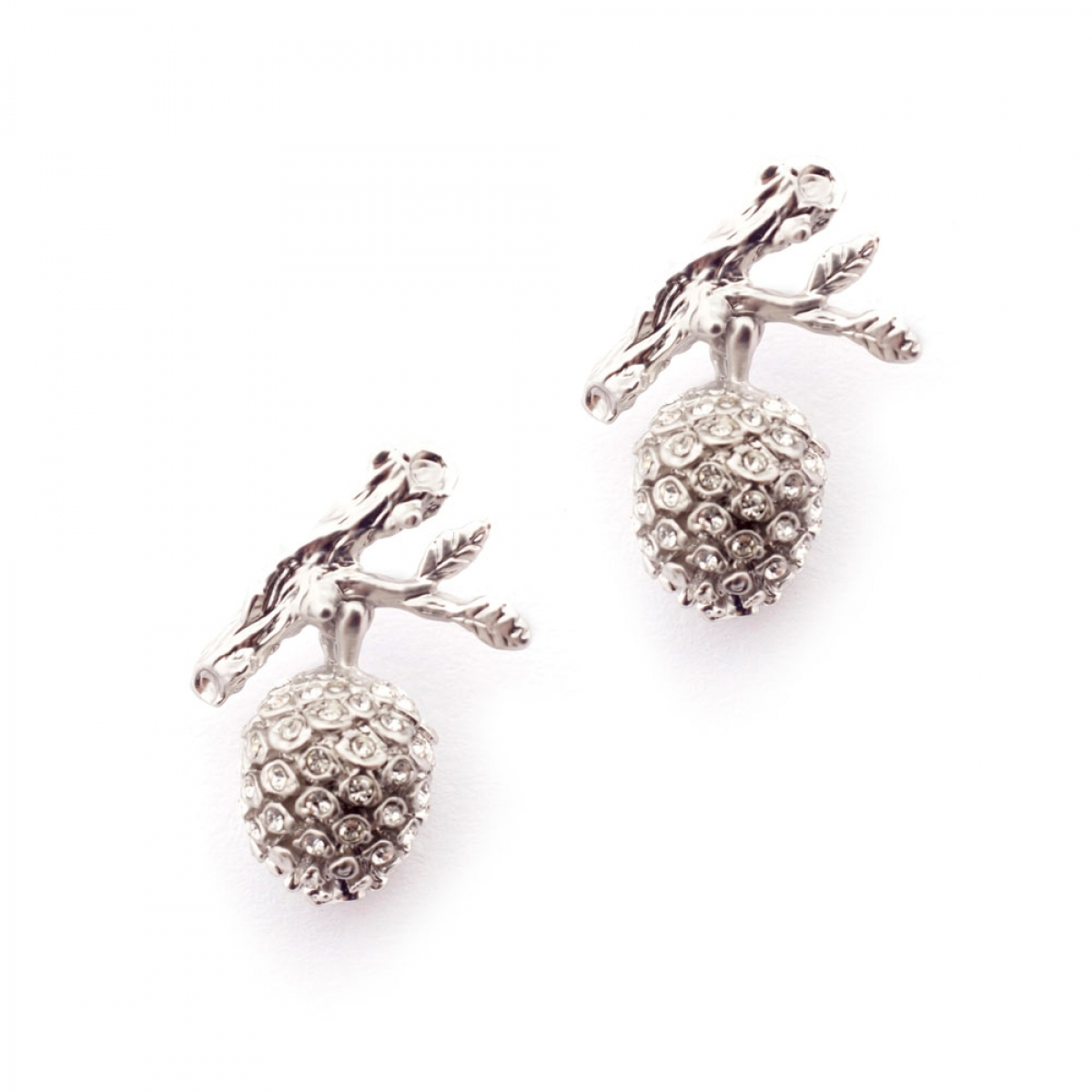 Pinecone Earring Pave