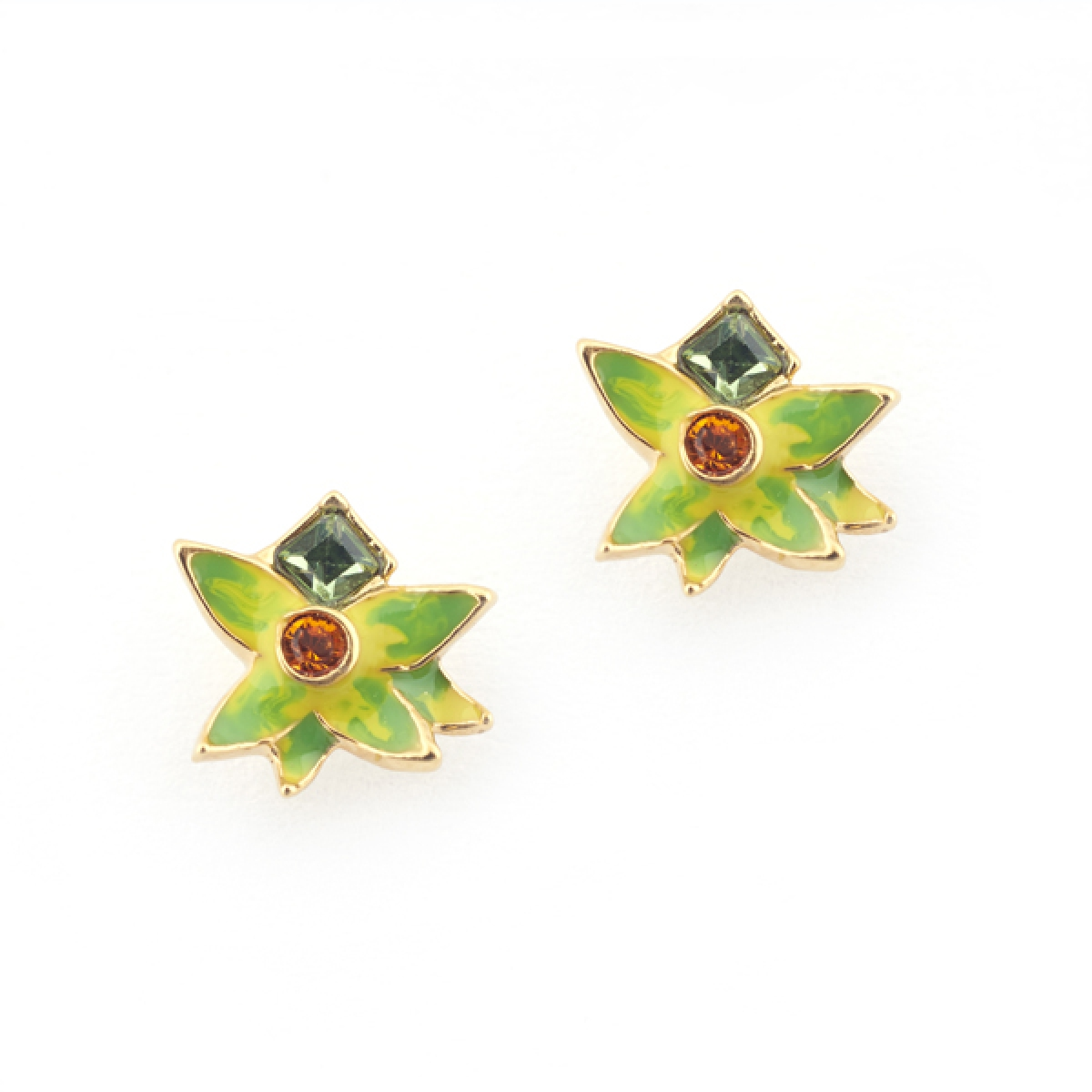Orangutan Flower Stud (Green)