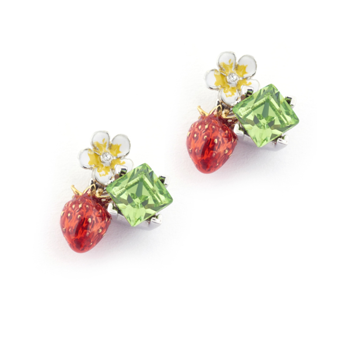 product strawberry style gift earrings hello kitty crystal mixed color butterfly jewelry stud gold heart flower wholesale store