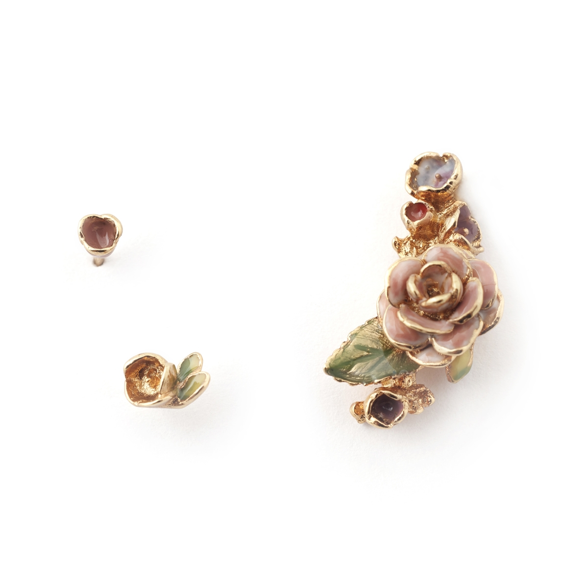 Vintage Rose Climber & Mini Studs Set