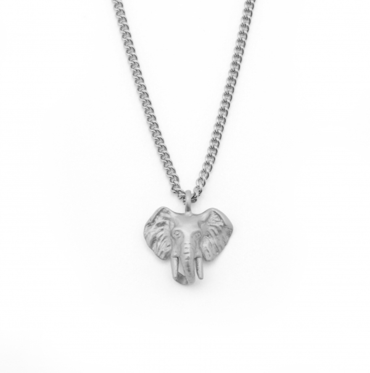 Mini Elephant Charm Pendant Rhodium
