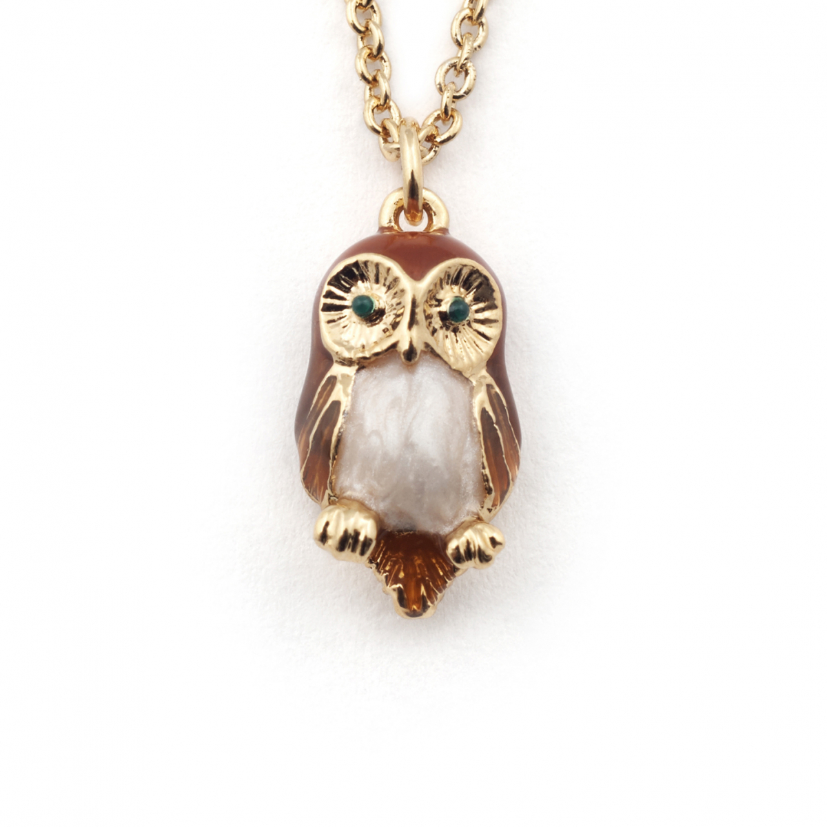 Owl Mini Pendant - Brown