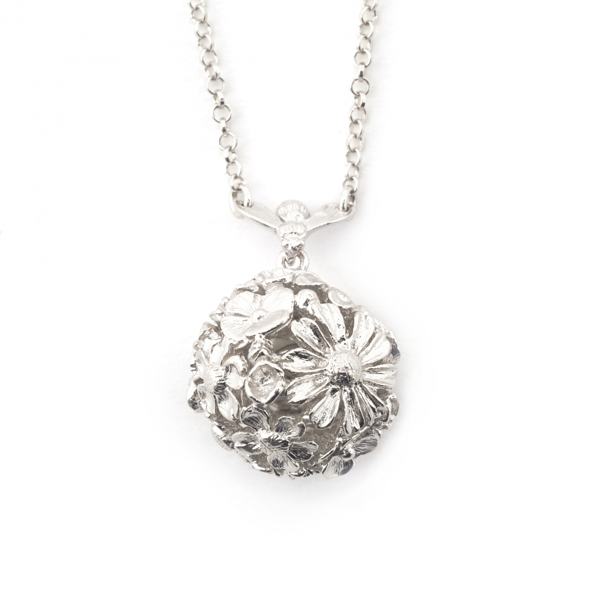 Floral Bee Orb Necklace