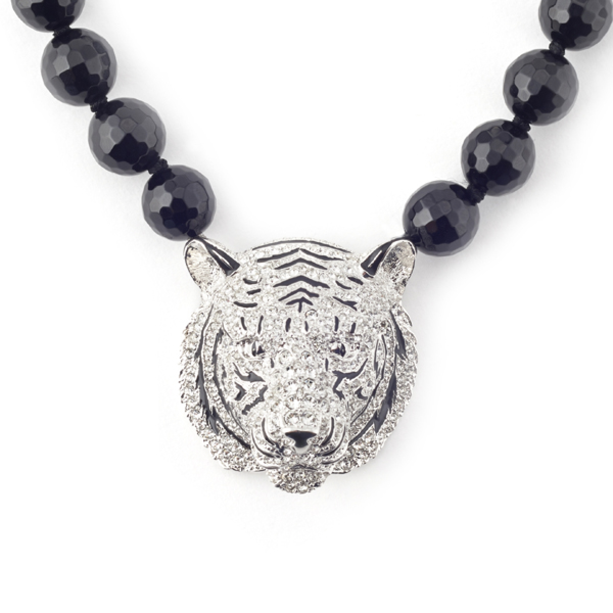 White Tiger Statement Necklace