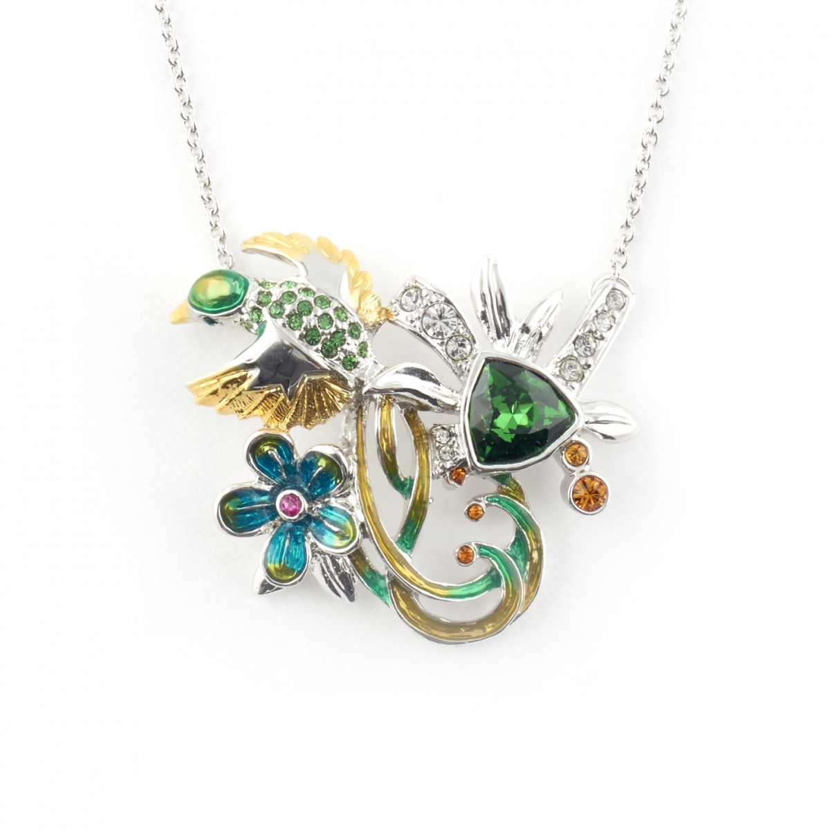 Jungle Paradise Bird Pendant