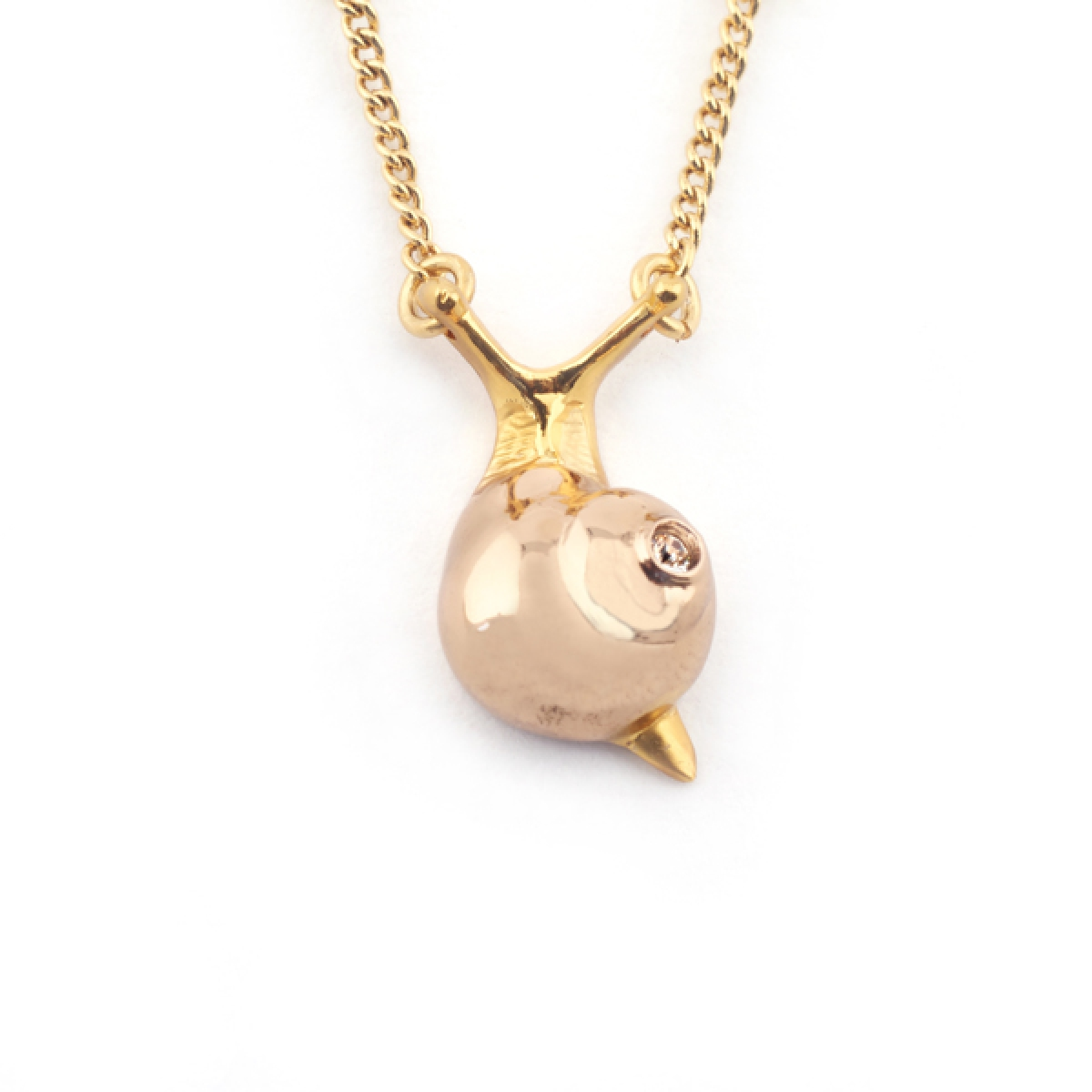 Mini Snail Pendant Rose Gold