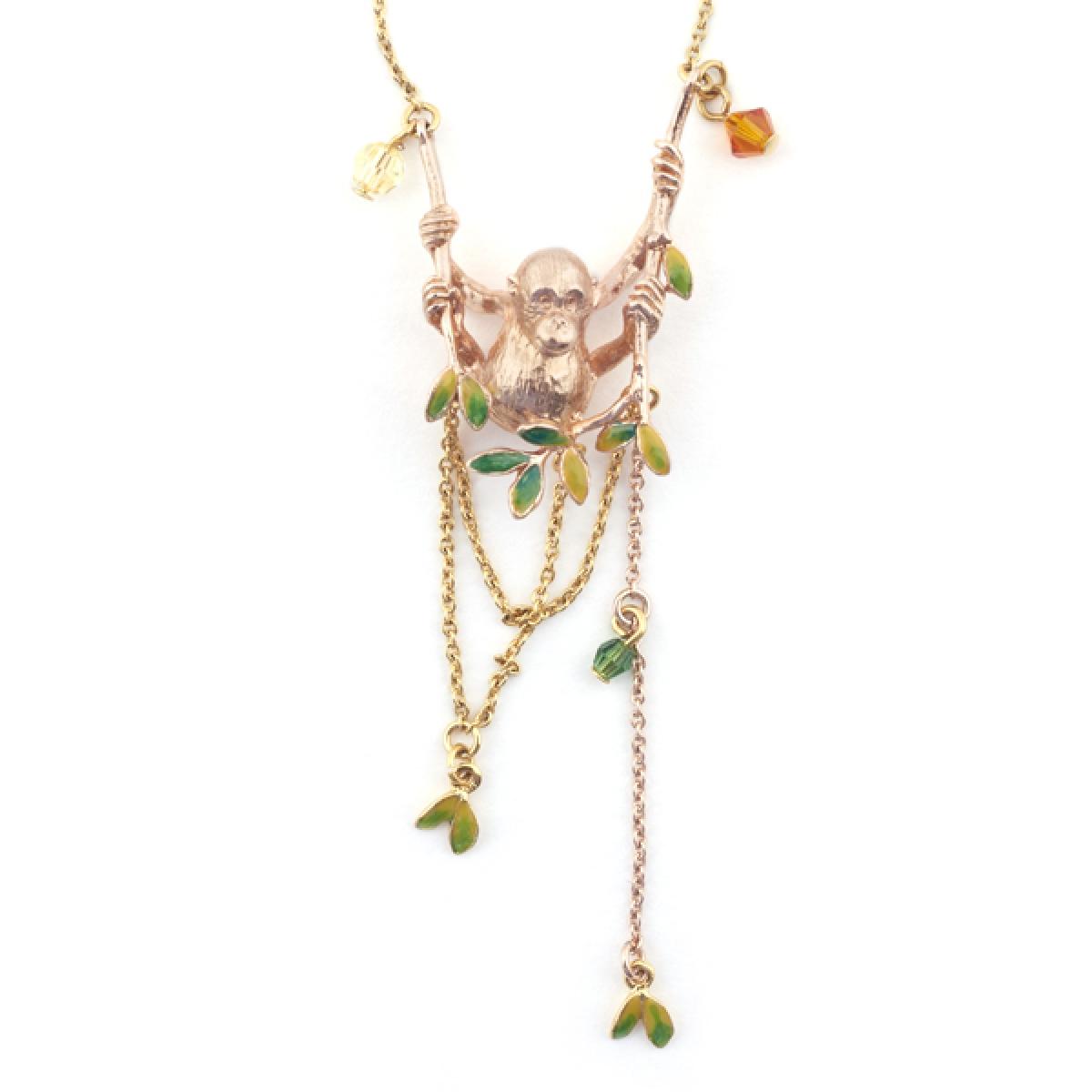 Orangutan Swing Necklace Fashion Jewellery