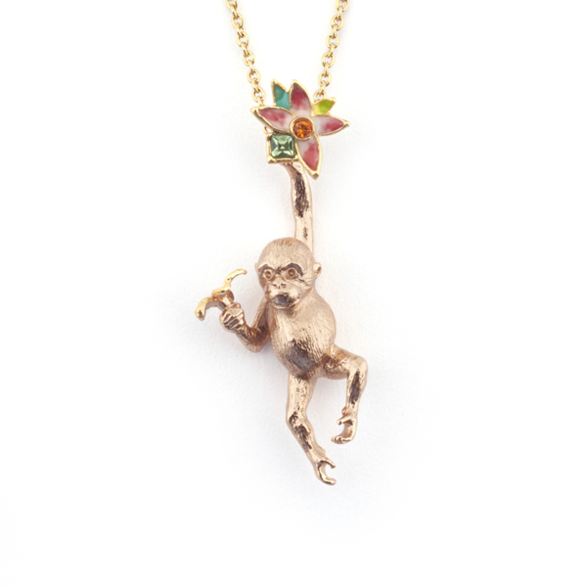 Orangutan flower pendant fashion jewellery delivery and returns mozeypictures Image collections