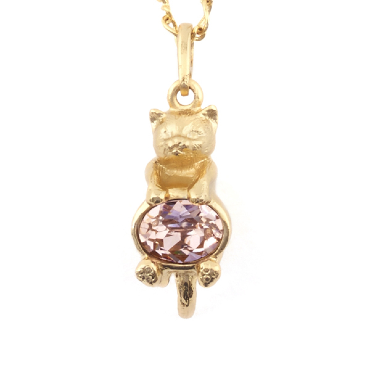 Kitten & Crystal Pendant