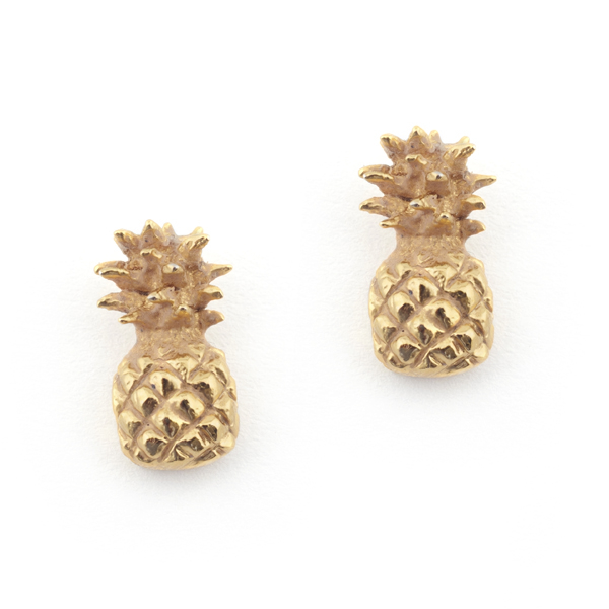 az silver stud sterling kids earrings pineapple pmr bling summer jewelry fruit