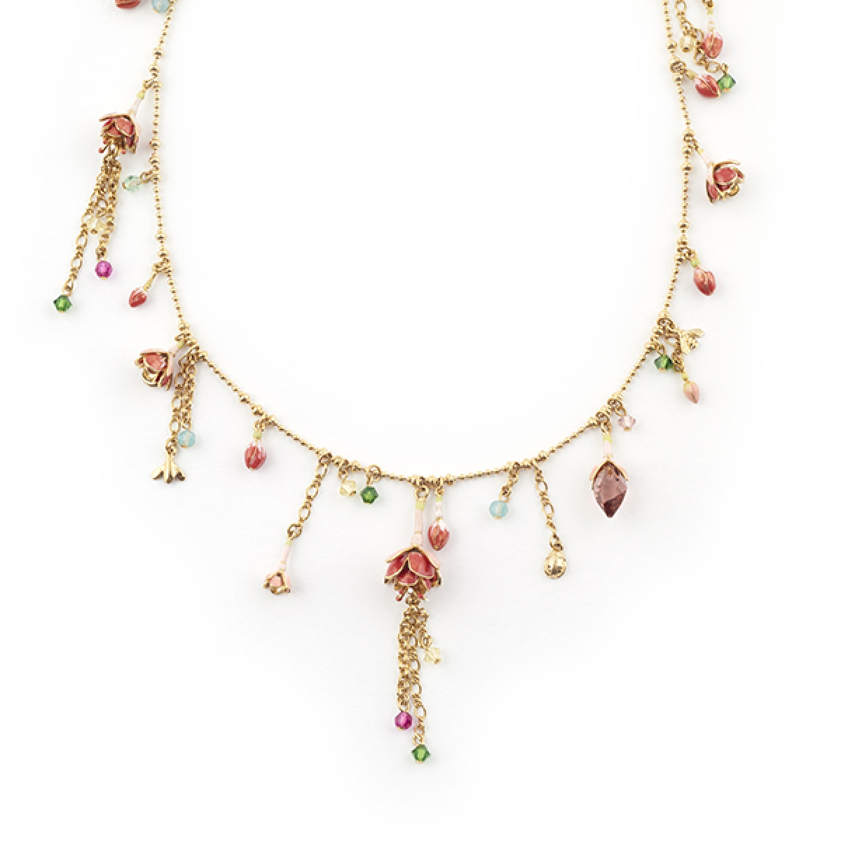 Fuchsia Statement Necklace
