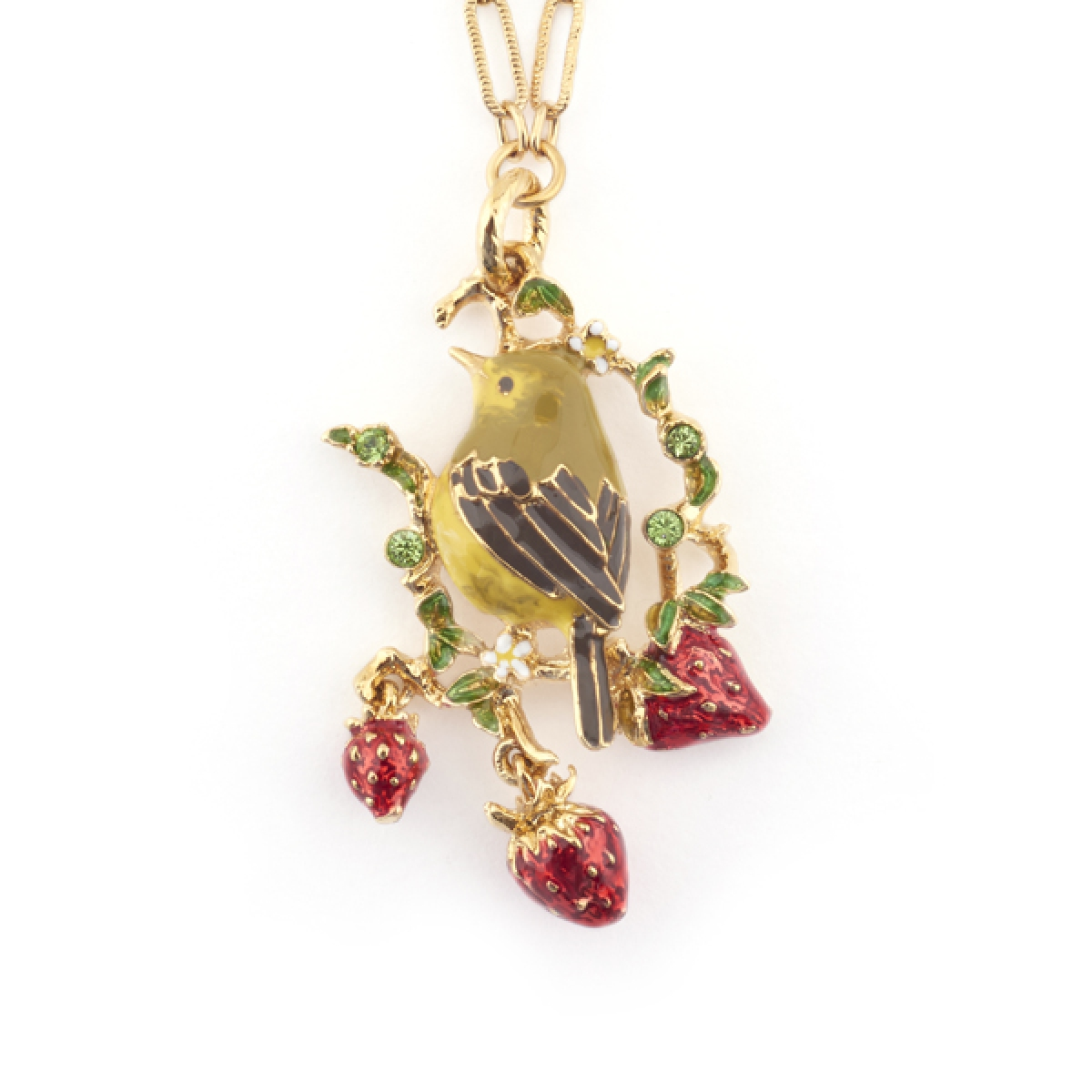 Gold Crest Short Pendant (Gold)