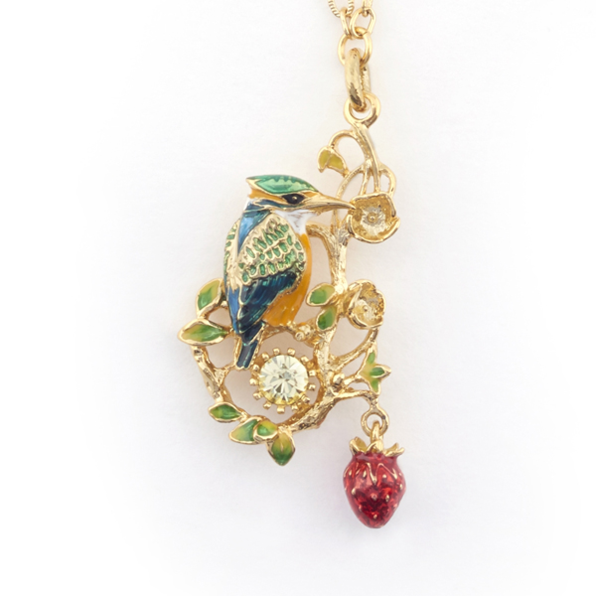 Kingfisher Short Pendant (Gold)