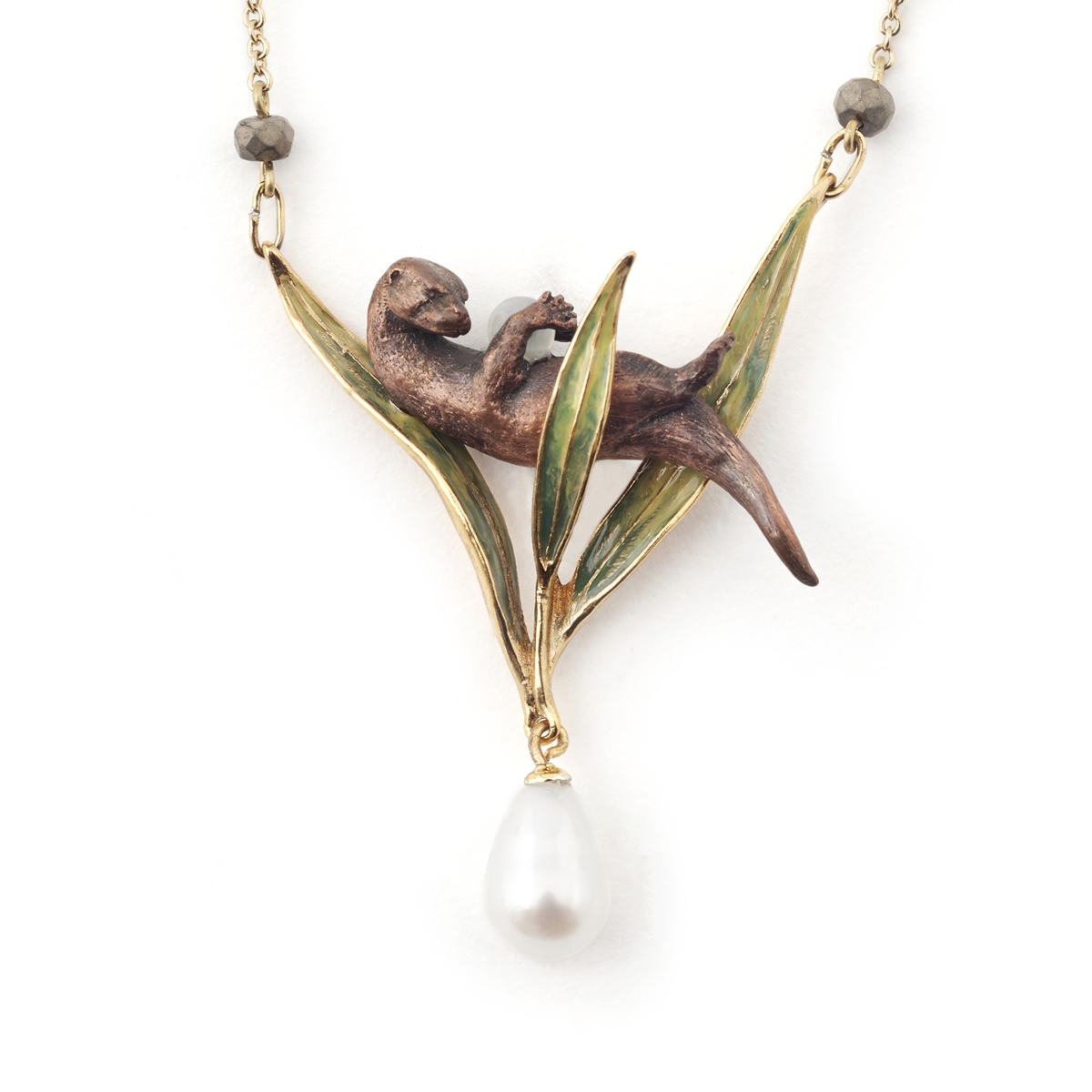 Resting otter pendant fashion jewellery delivery and returns aloadofball Image collections