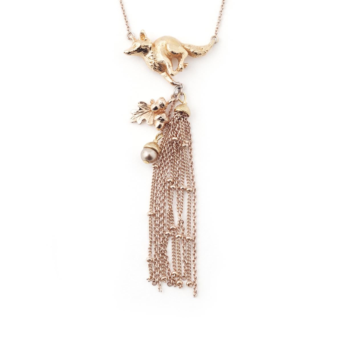 Fox Tassel Necklace