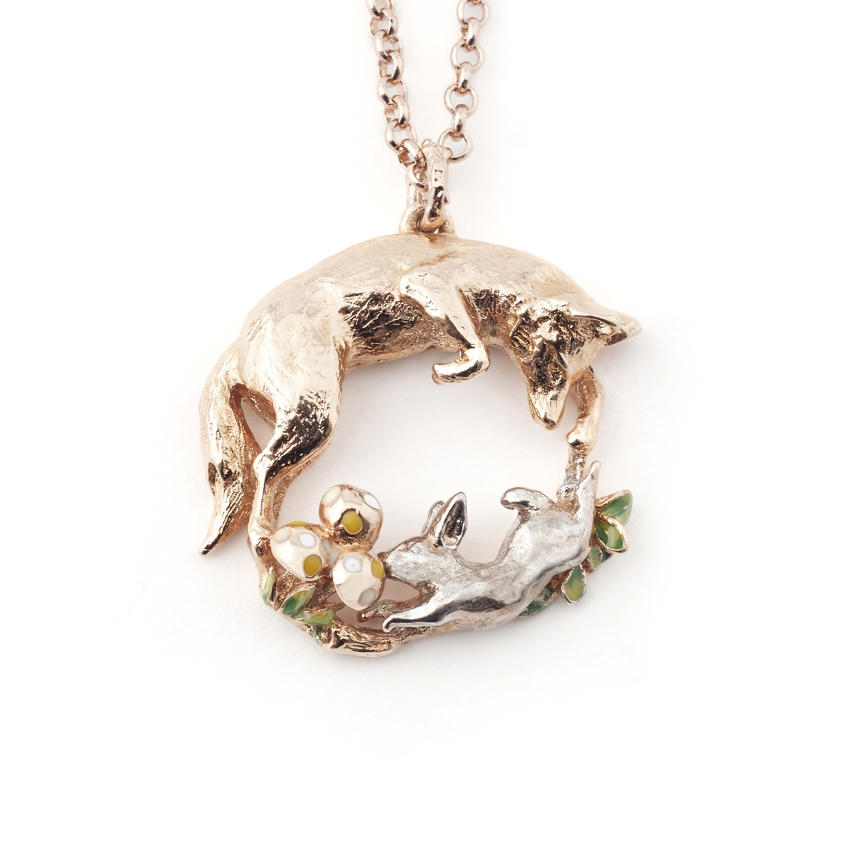 Fox Amp Rabbit Pendant Fashion Jewellery
