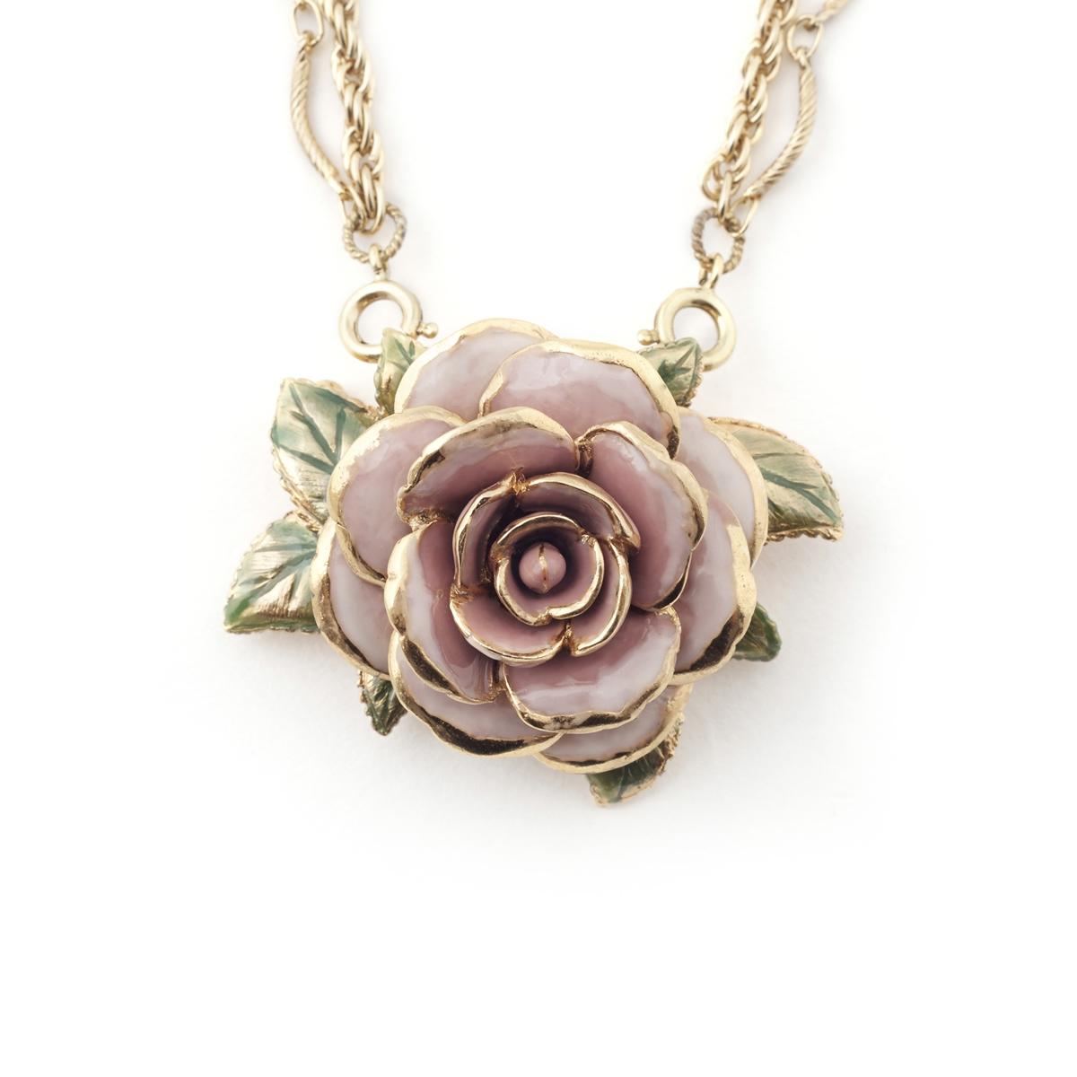 Vintage Rose Pendant Amp Brooch Fashion Jewellery