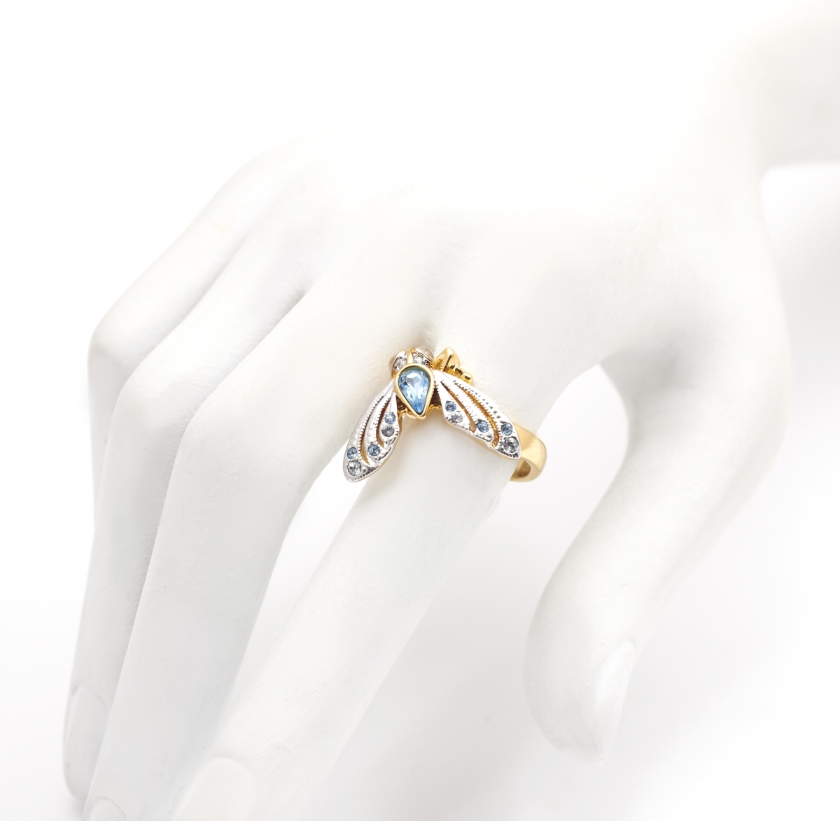 JEWELLED MOTH RING (MEDIUM SIZE ONLY)