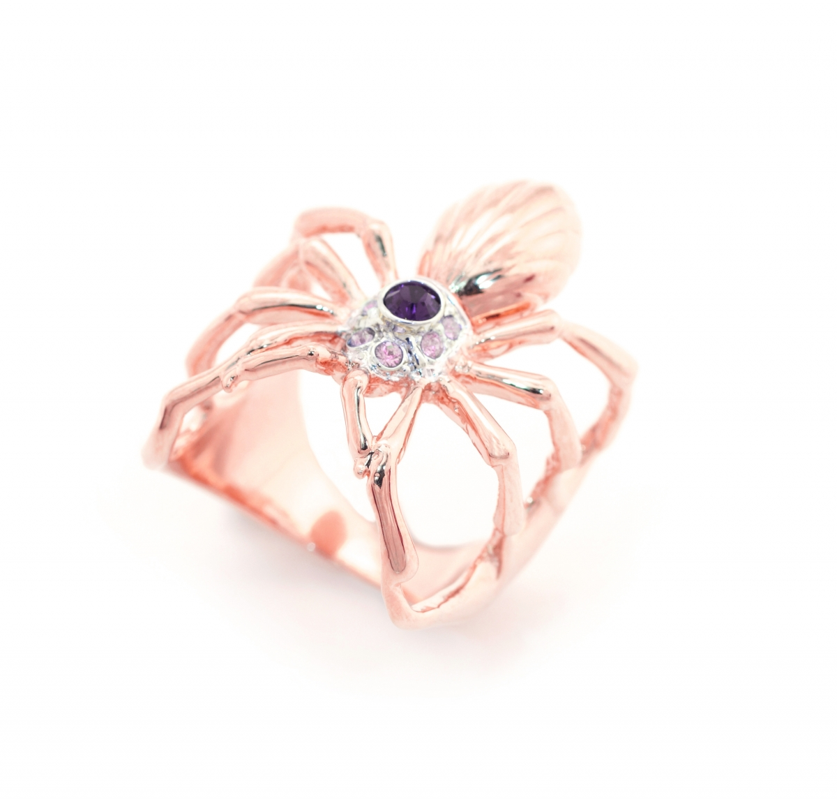 ONLINE EXCLUSIVE SPIDER RING ROSE GOLD