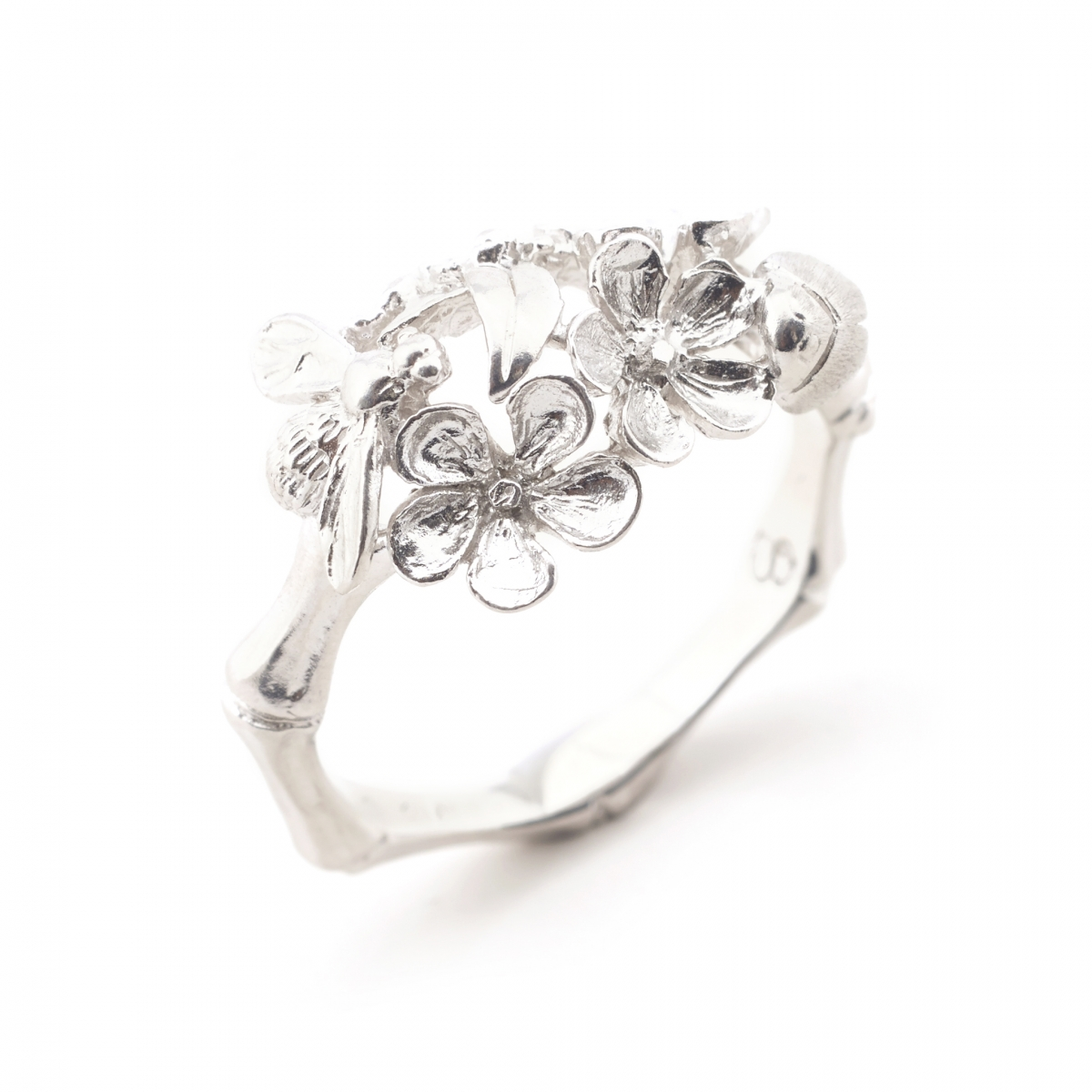 Floral Bamboo Ring (Large Size Only)
