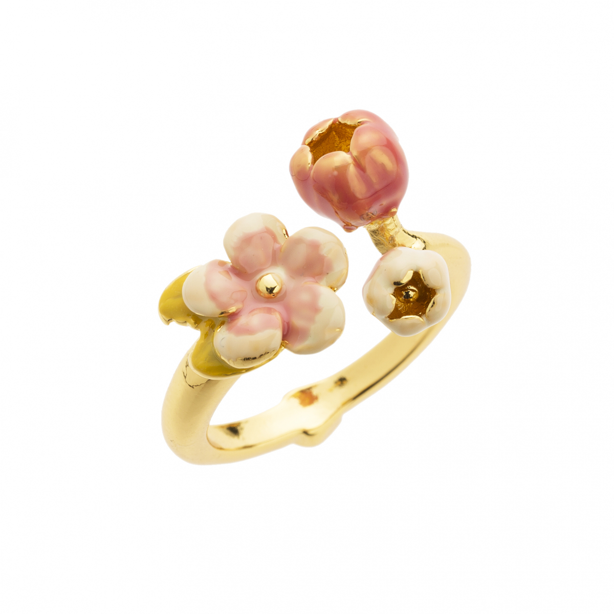 Cherry Blossom Open Ring - Gold