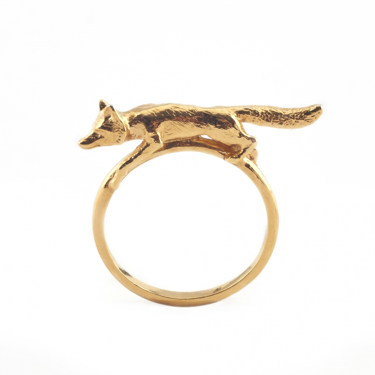 SILVER & GOLD FOX RING