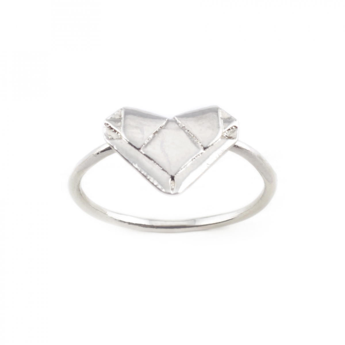 SILVER ORIGAMI HEART RING | Fashion Jewellery - photo#20