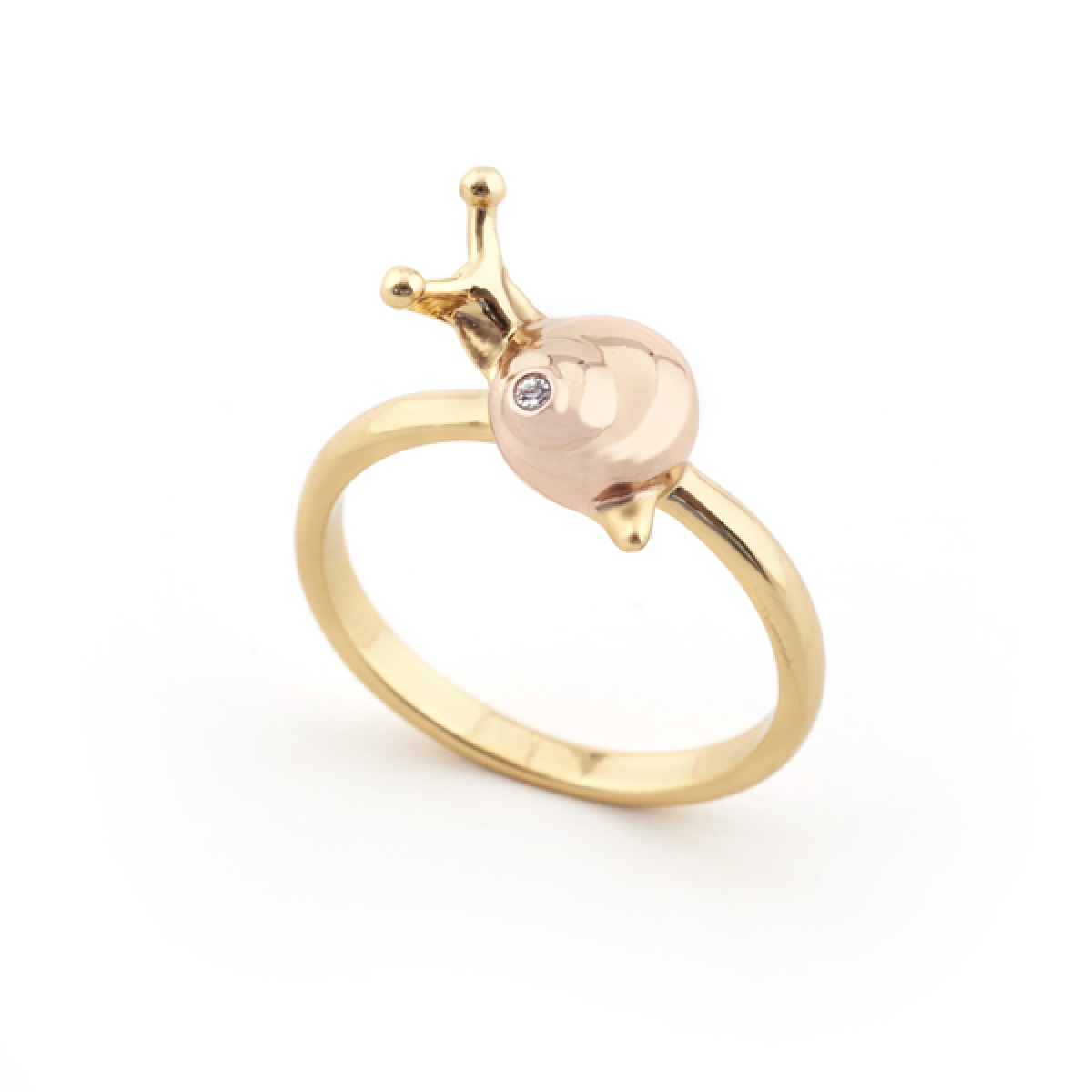 Mini Snail Ring Rose Gold