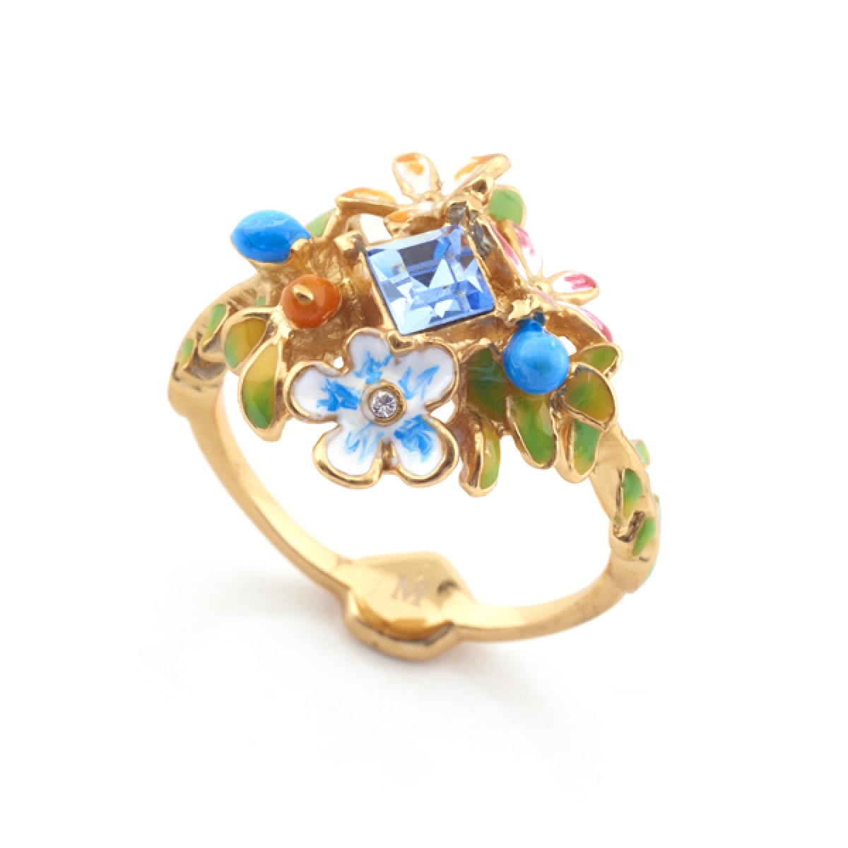 Orangutan Floral Crystal Ring - Large Size Only