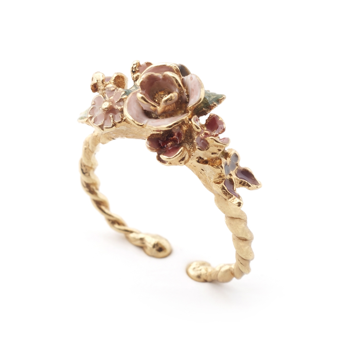 Mini Vintage Rose Open Ring Fashion Jewellery