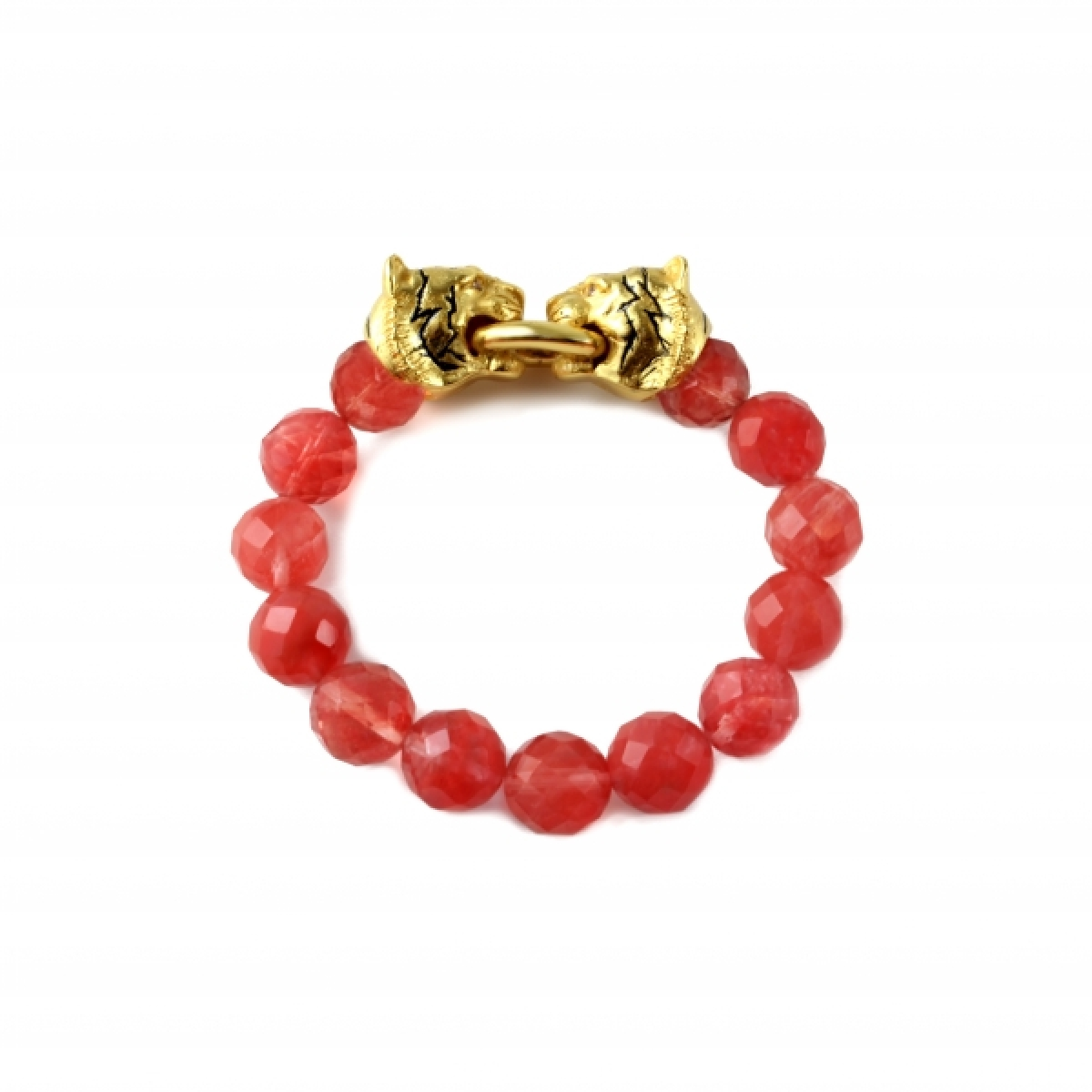 TIGER STRETCH CHERRY QUARTZ BRACELET