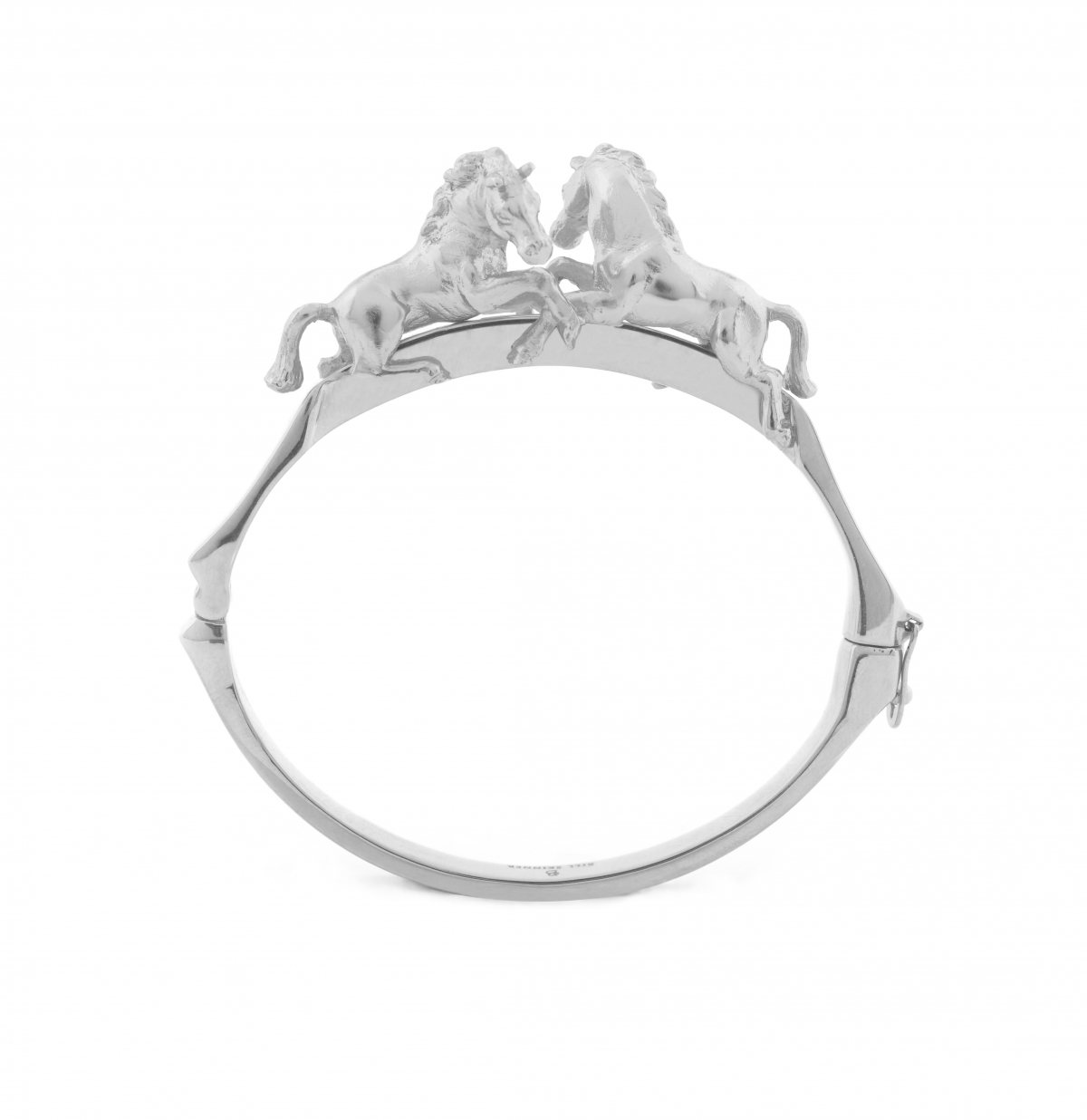 Wild Horse Bangle (Rhodium)